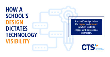 A school's design influences its educational technology choices.